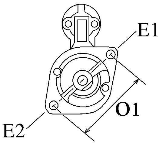 Startmotor Mercedes OM615, OM616, 12v