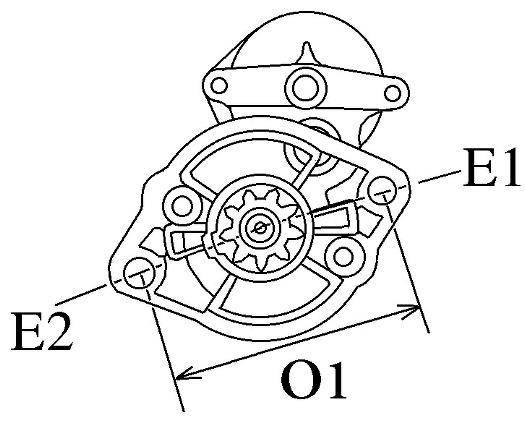 Startmotor Kubota / Beta marine V1405, BV1505, V1505,