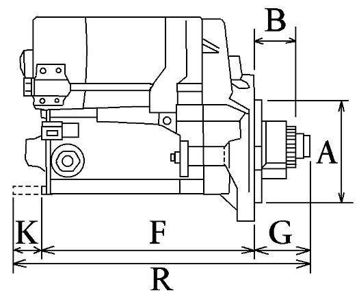 Startmotor 12v 1.4kw Isuzu 2AB1, 3AB1, 3AD1,