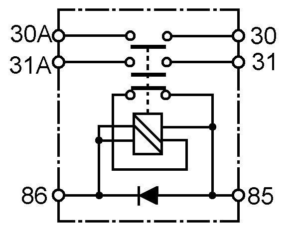 Batterij/hoofd/Massaschakelaar – Elektrisch 24 V