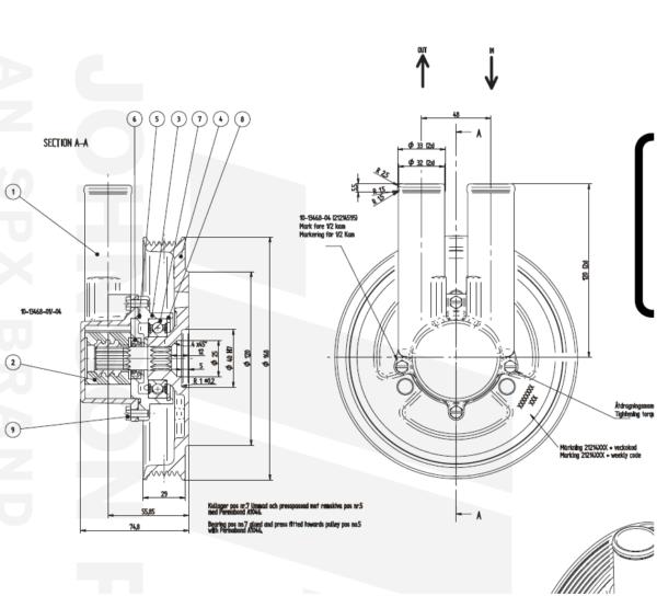 Impellerpumpe Volvo Penta 3.0GS, 4.3GL 5.0GL, 4.3GI 5.0Gi