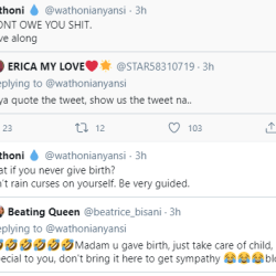 """BBnaija: """"Anything you say about my child goes back to you""""-Wathoni to Trolls."""