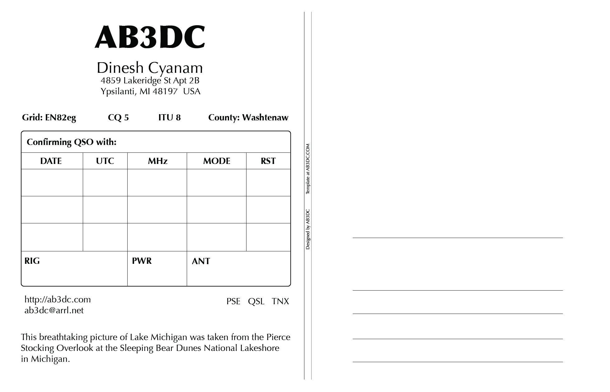 Photoshop Archives ABDCs Ham Radio Blog - Qsl card template