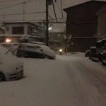 2014年2月14日相模原市南区 夜8時頃の様子