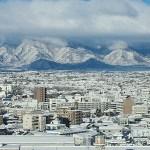 雪の長野県?