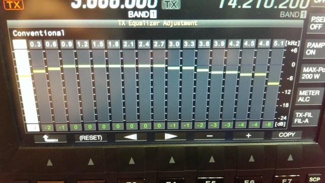 TS-990 18 Band EQ Adjustments