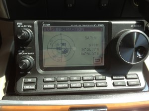 7100 GPS information screen.