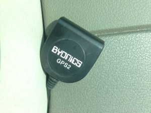 Dash mounted Byonics GPS2.