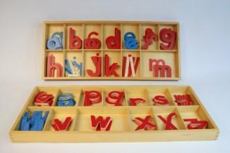118 - Grand Alphabet Mobile en bois - Ecriture script