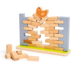 219-Cocoti le jeu de la poule sur un mur