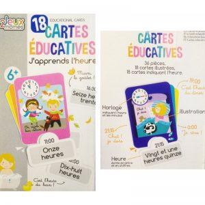 246 - Cartes Educatives - J'apprends l'heure