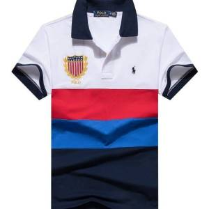 Ralph Lauren White, Red, blue and Navy Blue Color Polo Shirt