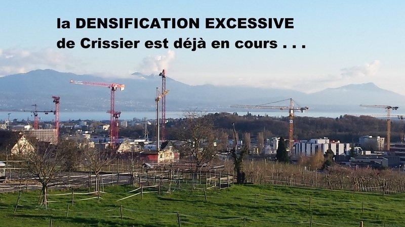 Pétition contre la densification de Crissier