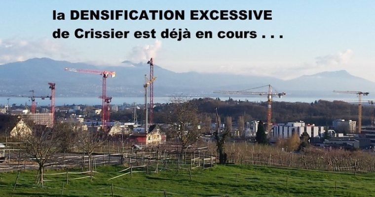 Pétition contre la densification de Crissier