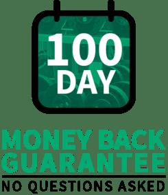 100 Days money back guarantee