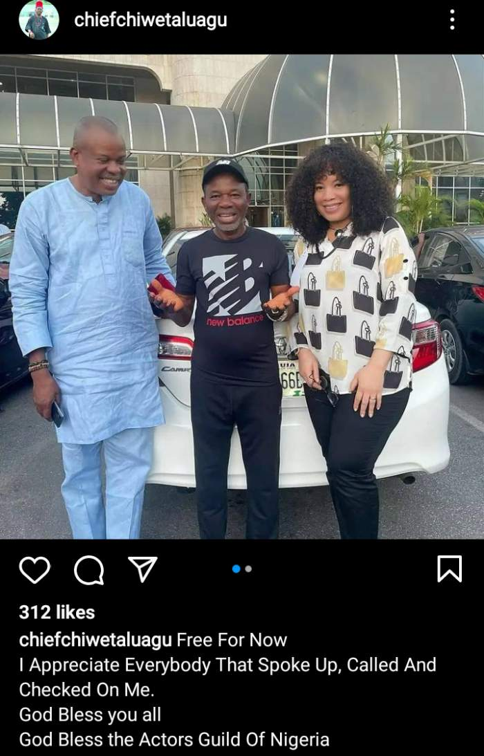 Nollywood actor, Chiwetalu Agu released from DSS Custody