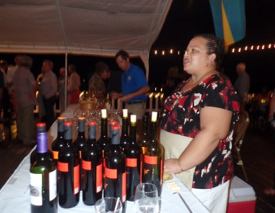 Seanna Dames serves wine generously donated by Bristol Wines