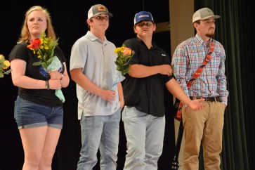From left to right: Runner-ups Brianna Thomas, Matt Bowen, Hunter Rowland and Wilson Boyd. Photo by Ari Penne.