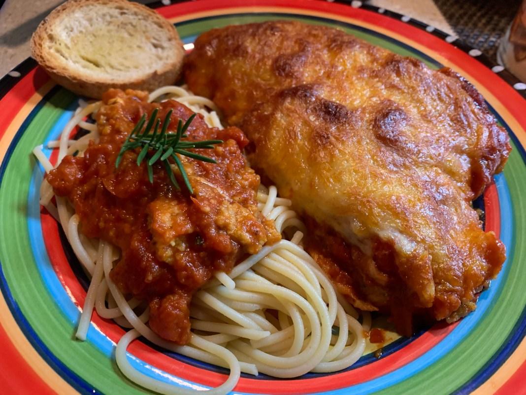 Home-cooked chicken Parm. Photo by Jessie Shiflett.