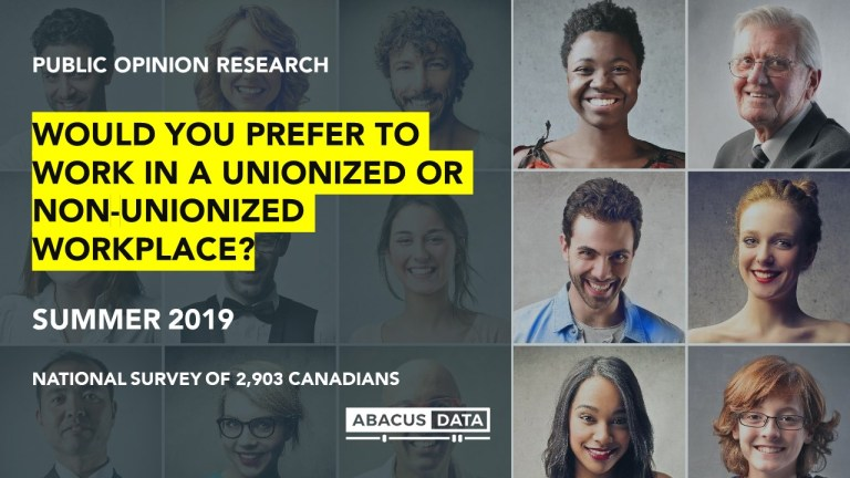 Would you rather work in a unionized or non-unionized job? We asked Canadians.