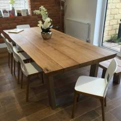 Rustic Dining Table And Chairs Wayfair Lounge Chair Cushions Oak Abacus Tables