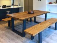 Rustic Dining Table Set with Bench | Abacus Tables