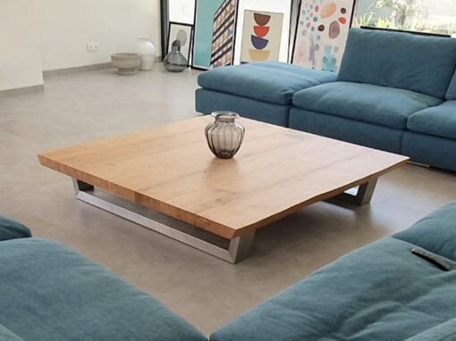 square oak coffee tables made in the