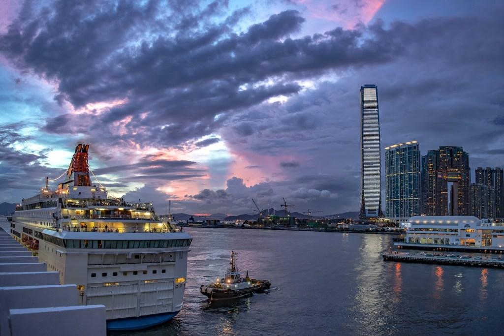 hong kong, ship, port