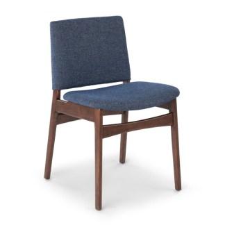 Nosh Denim Blue Walnut Dining Chair