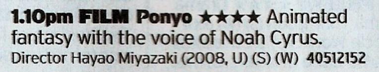 Film4 - Not the best Ghibli film but so it's a proper treat