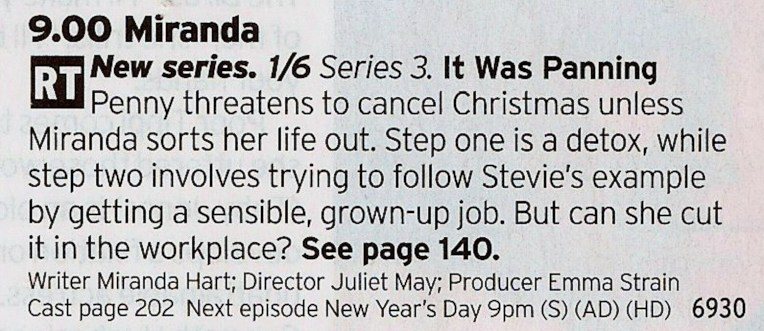 BBC1 - Again, ignore the haters and enjoy the fun. Great sitcom this