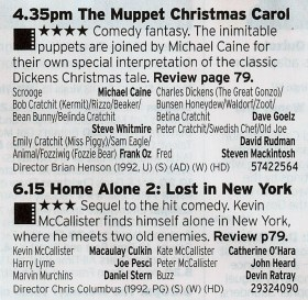 1635 C4 - Channel 4 brings out the big guns here; one of The Best Christmas films followed up by the arguably better Home Alone film. Wow.