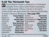 2130 BBC2 - A great cast bodes well for this spooky one off story.