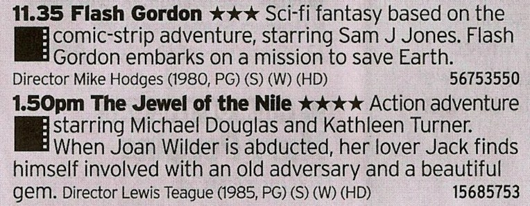1135 C4 - Here's a double bill from the top drawer; pure 80s camp followed by the film that gave the world When The Going Gets Tough