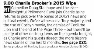 2100 - BBC2 - Probably the only 2015 round up show you'll need