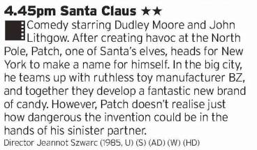 1645 - ITV1 - It's Christmas, this is a bit weird and rubbish but you have to watch it. It's law.