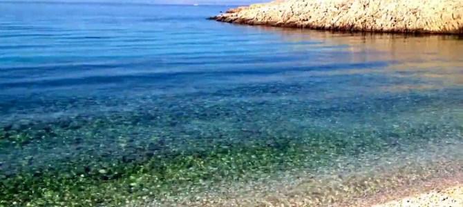 Traumstrand Kroatien, Einsamer Strand, Insel Krk, Stara Baška, Kristallklares Wasser