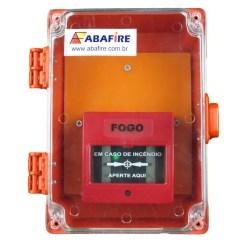 Acionador Manual Convencional Para Área Externa à prova de Tempo IP65 (Conventional Manual Call Point) código AFAM2PT