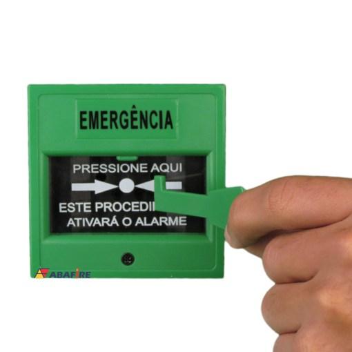 Acionador Manual e Botoeira de Comando Para Controle de Acesso e Emergência na Cor Verde com Relé NA/NF código AFAM3VD - Imagem 12