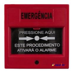 Acionador Manual e Botoeira de Comando Para Emergência com Relé NA/NF código AFAM3VM - Imagem 01