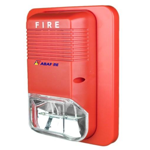 Sirene Audiovisual de Alarme de Incêndio Tensão de 24V com Flashes de Xenon e Alerta Sonoro com 03 Tipos de Toques código AFSX - Imagem 02