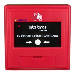 Botoeira e Acionador Manual de Alarme de Incêndio Endereçável (Addressable Manual Call Point) Tipo Resetável. Código AME520. Imagem 01