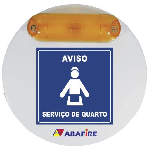 Campainha Sonora e Luminosa (Audiovisual) Sem Fio (Wireless) Para Quartos de Deficientes Auditivos e Visuais (PNE e PCD) - Código AFCSLW