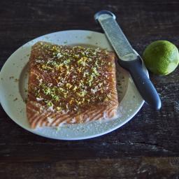 Salmón a 43ºC marinado con cítricos