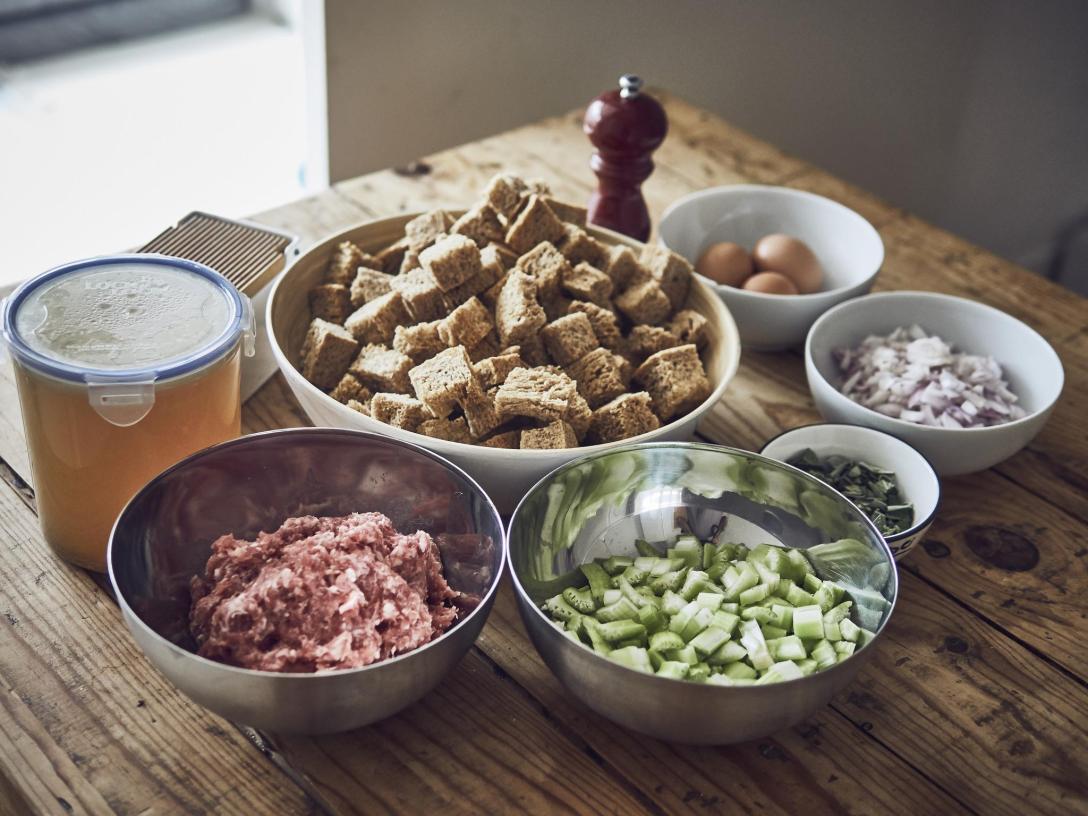 ingredientes stuffing en crockpot slowcooker