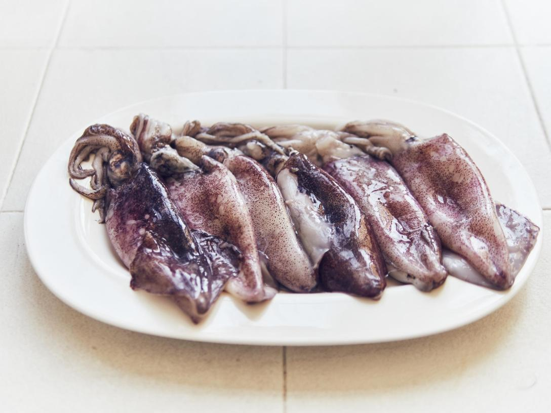 calamar sous vide a baja temperatura