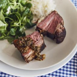 Churrasco a  super baja temperatura con chimichurri
