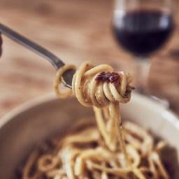 Espaguetis a la carbonara sous vide