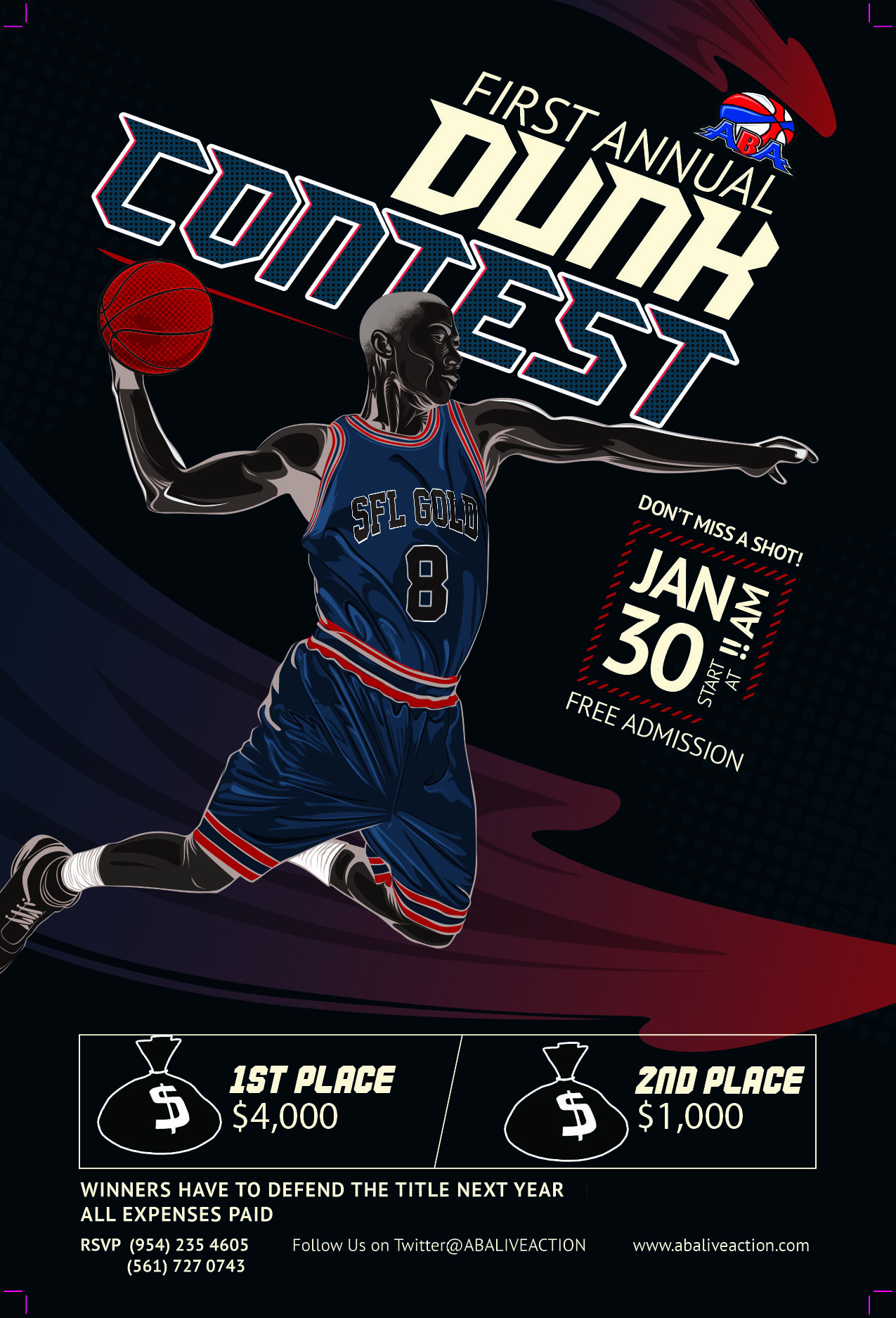 Basketball Flyer Template Dark Ver By Mahameru