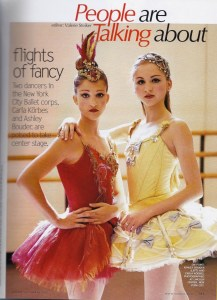 Ashley Bouder and Carla Korbes in VOGUE